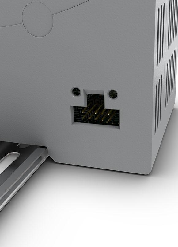DIN mount stepper drive