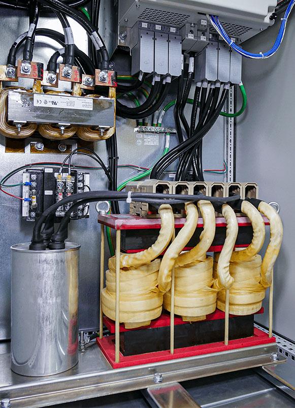 sinewave filter in cabinet