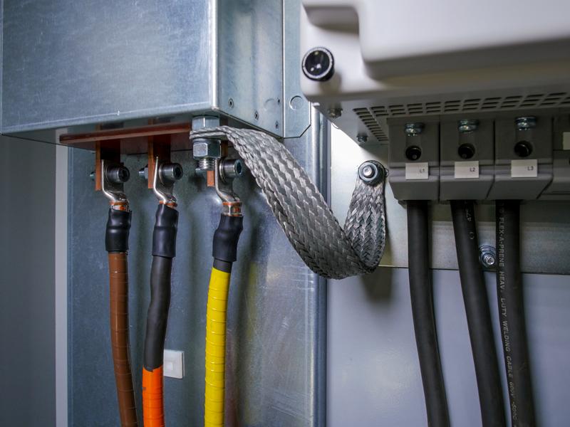 braided ground strap for VFD