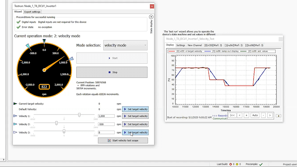 T6 Auxiliary Inverter Setup with KEB COMBIVIS Programming software. Step 6